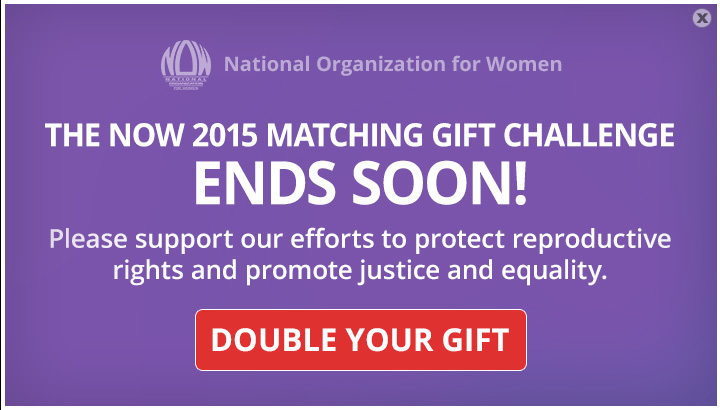 NOW 2015 Matching Gift Challenge Ends Soon!